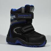 Термоботинки, зимние сапоги для мальчика B&G-Termo арт. Ray185-50 черный-синий