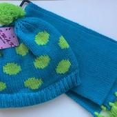 ~6 л набор шапка и шарф новый