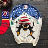 Мужской новогодний свитер с 3D вязкой  Cedarwood State рр M