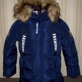 Куртка зимняя для мальчиков 128/134-158/164 Венгрия 3 цвета