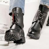 Ботинки зимние кожаные на меху, р. 36-40, код kivk-553