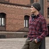 Мужская фланелевая рубашка от Tcm Tchibo, Германия, р-р 43-44