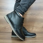 Мужские зимние Ботинки Yuves black