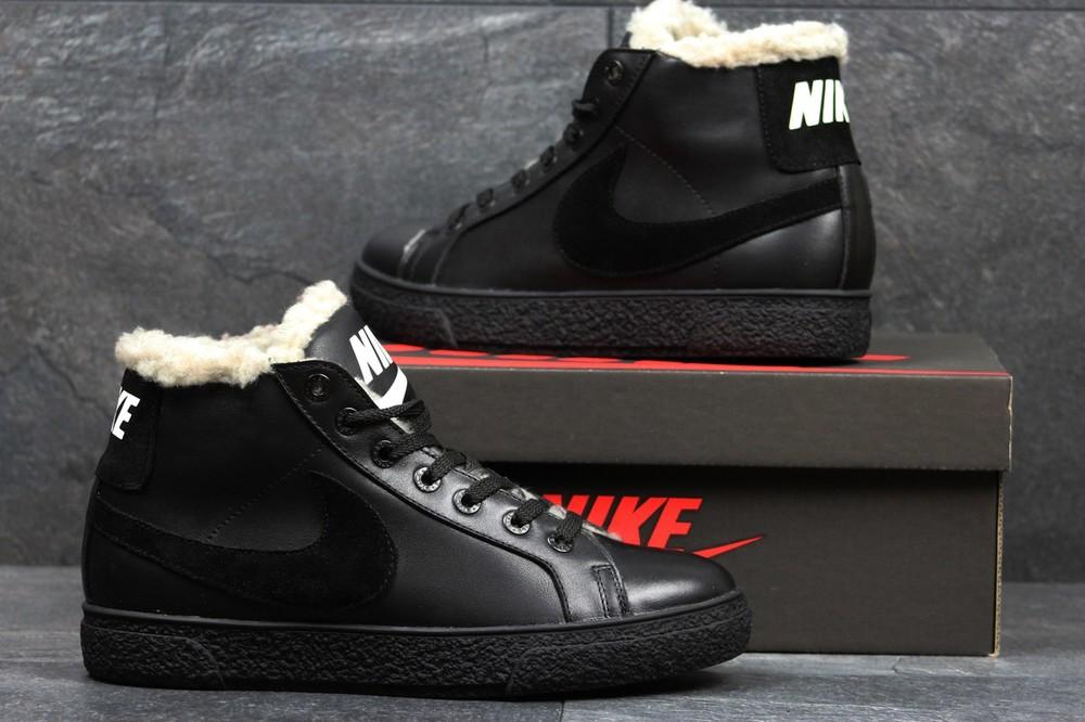 Зимние кеды 3617 Nike. Натуральная кожа. фото №1
