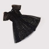 Черное праздничное платье 4-5 лет
