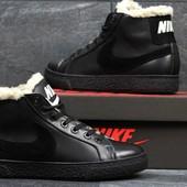 Зимние кеды 3617 Nike. Натуральная кожа.