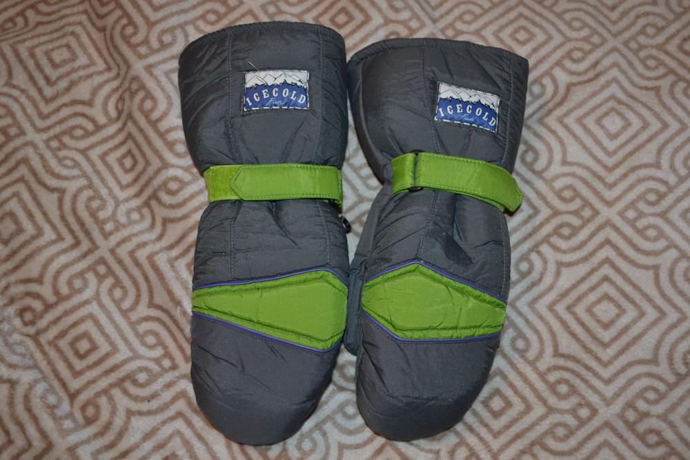 мужские лыжные термо рукавицы варежки Icecold США 9  размер  S-M фото №1