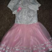 Нарядное платье 4-5 лет (шир. 30, дл. 74)