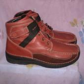 Ботинки кожаные Wolky на широкую ногу