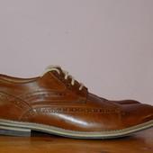 Кожаные фирменные стильные туфли -оксфорды Roberto Santi 42.5 - 43 р