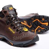 Ботинки кожаные зимние CAT Caterpillar Nubuck