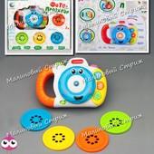 Детский фотоаппарат музыкальный проектор диафильм, свет, мелодии и звуковые эффекты, картинки слайды