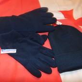 Новий фирменний комплект шапка + перчатки рукавици фліс .Beechfield Германия.л