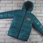 Зимняя подростковая курточка на рост 122см, 128 см, 134 см,140см.