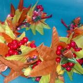 Ободок листья осень калина