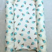 Гнездышко-кокон для новорожденных, сатин, для мальчиков
