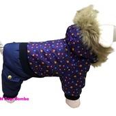 Зимние комбинезоны для собак Dogs Bomba (разные цвета)