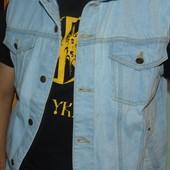 Брендовая фирменная джинсовая жилетка Atlas Германия л-хл .