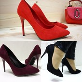 Шикарные туфли  Материал: эко-замша