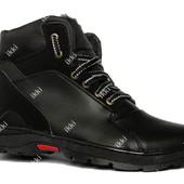 40р Стильные зимние мужские ботинки на шнуровку (ПЗ-30чнм)