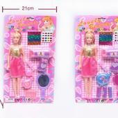 Кукла маленькая 9217A/9218A  2вида,с феном,аксессуарами