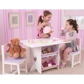 Столик с ящиками и двумя стульями Kidkraft 26913, 26912