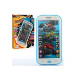 Телефон DT-030A в упаковке 96 шт BL, обуч,15см,сенсор,муз(рус),св,сказки,2 цвета в кор-ке,14,5-20,5-