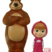 Набор фигурок (2 шт) Маша и Медведь, пищалки (8 см; 14 см)