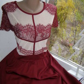 Boohoo платье цвет марсала 14-размер