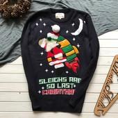 Крутой новогодний мужской свитер Next рр L