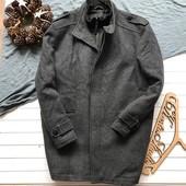 Шерстяное утепленное мужское пальто F&F рр ХЛ