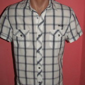 рубашка мужская р-р S коттон River Island