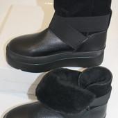 Удобные ботинки  с резинками, с 36-40р.