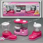 Игрушечная Бытовая техника: кофеварка блендер кухонный комбайн, звук свет подвижные детали, кухня