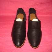 Кожаные фирменные туфли Zara Trafaluc (оригинал) - 38 размер