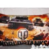 Подушка  3D картинка танки ворлд оф так  декоративна