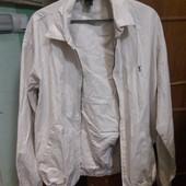 Сток Мужская белоснежная катоновая куртка смотрите замеры в описании