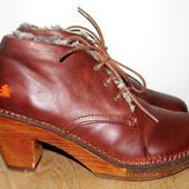кожаные ботинки 24 см