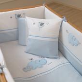 Комплект постельного белья Hippo (7 Предмета) Funna Baby 6001 Турция бело-голубой 12126038