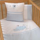 Набор постельного белья Hippo (3 предмета) Funna Baby 6003 Турция бело-голубой 12126048
