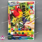 Набор для творчества Danko toys Картина по номерам, Попугаи