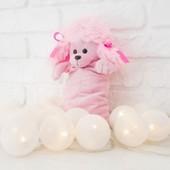 Новогодняя Рукавичка мешок для конфет и подарков собачка Пудель на Новый год