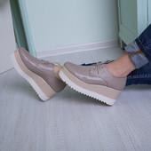 Новинка туфли натуральная замша / кожа код ЛЛ 28803