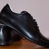 Кожа. Фирма. Качество. Стильная универс. обувь стелька 28 см сост новых