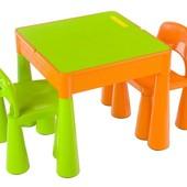 Комплект детской мебели Tega Baby Mamut (стол + 2 стула) (оранжевий с зеленым