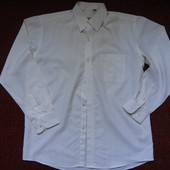 Рубашка мужская бело-бежевая р.M-L