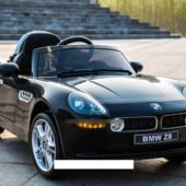 Детский электромобиль jj 1288 eblr-2 BMW Z8, кожаное сиденье