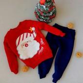 р 2,3,4 года. Теплый новогодний костюм. Подходит и девочке и мальчику.