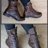 Кожа,мех/франция san marina оригинал ботинки сапоги 37-38р