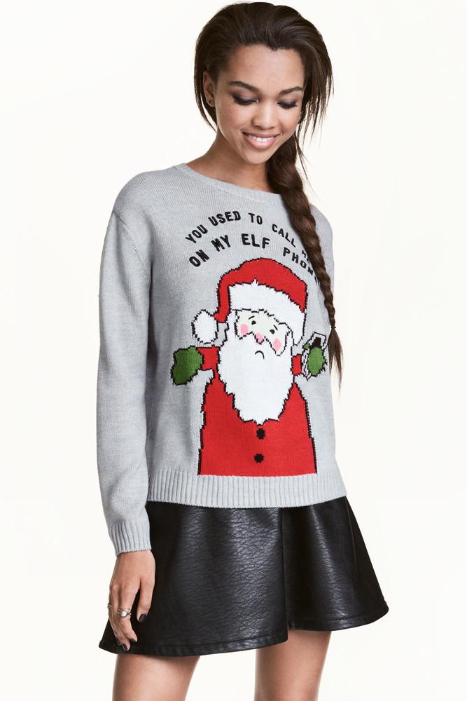 Рождественский джемпер свитер h&m, xs фото №1